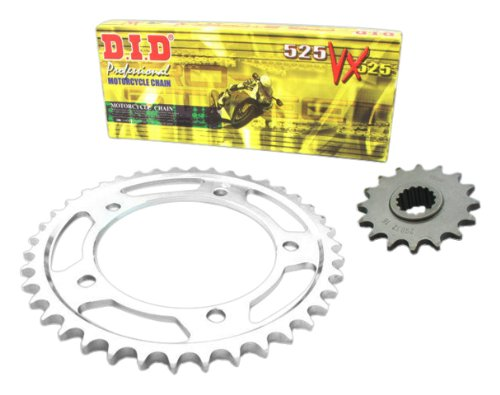 D.I.D CA.004.01-934.01.6 X-Ring Hyper-Reinforced Chain Set Type VX2 for Cagiva W8 125 Build Date 1992 to 1999 Steel-Coloured