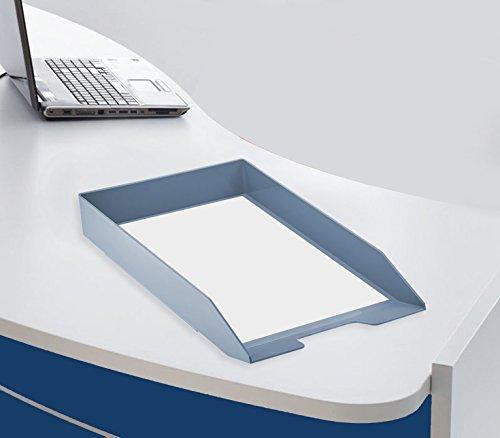 Acrimet Stackable Letter Tray Solid Blue Color 1 Unit