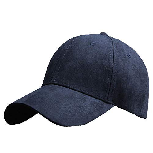 CHENTAI New Suede Baseball Cap Men Women Snapbacks Outdoor Sport Hat Dark Blue