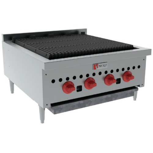 Wolf Range Company SCB25 Char-Broiler 25 Wide 27 Deep Radiant Style Gas 14 500 BTU Every 6 ()
