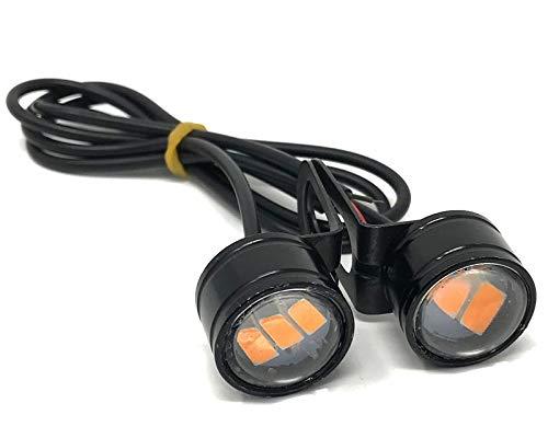 Motorbike Projector LED Indicators with L-Shaped Brackets Flush Mount Aluminium