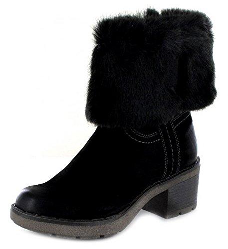 Tamaris 1-26449-29 001, Bottes pour Femme - noir - noir,