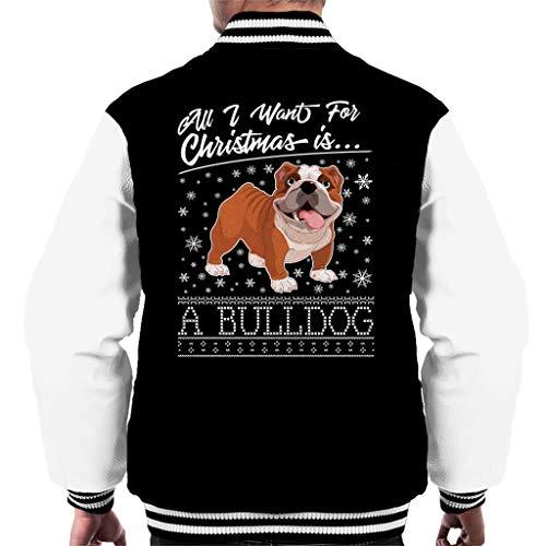 Coto7 Coto7 I Black Varsity Varsity Varsity Bulldog Men's A Pattern for Christmas Want White Knit Is all Jacket qfx1qrSwA