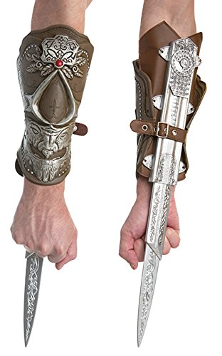 Assassin's Creed Ezios Bladed Gauntlet Theme Party Ezio Costume Accessory]()