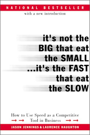 It's Not the Big That Eat the Small...It's the Fast That Eat the Slow: How to Use Speed as a Competitive Tool in Busines