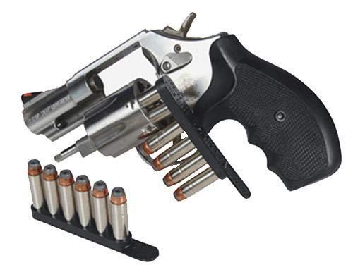 Bianchi Speed Strip - 38 Spl / 357 Magnum - 6 Round - Black - 2 Pack