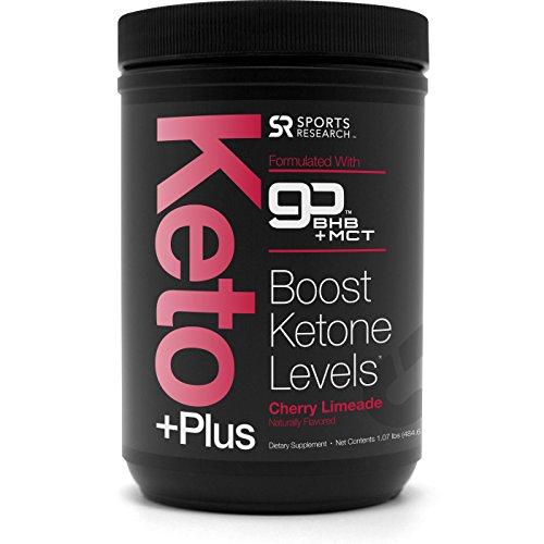 NEW! Keto Plus™ MCT Oil + Exogenous Ketones (BHB) ~ Caffeine free energy to help enhance Ketosis, Fat Burning, Performance & Focus ~ Vegan & Keto Diet Friendly, Non-GMO (Cherry Limeade)