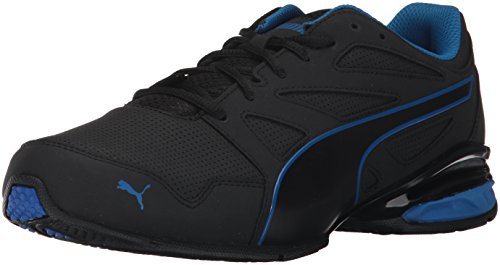 PUMA Men's Tazon Modern SL FM Sneaker,Puma Black-Lapis Blue,