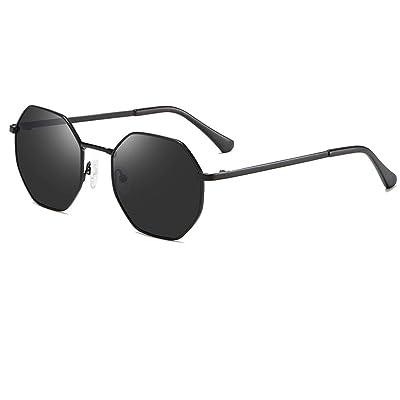 XIELH Gafas de sol Gafas Redondas De Metal con Gafas De Sol Polarizadas para Mujer Retro Gafas De Sol para Hombres, Negro: Deportes y aire libre