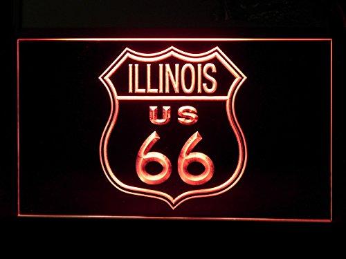 IL Route 66 US Illinois Led Light Sign