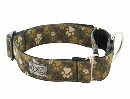 RC Pet Products 1-1/2-Inch All Webbing Martingale Dog Collar, Medium 12 to 20-Inch, Pitter Patter Camo ()