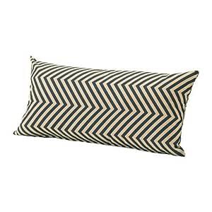 GRENO Cushion, outdoor, dark blue, beige