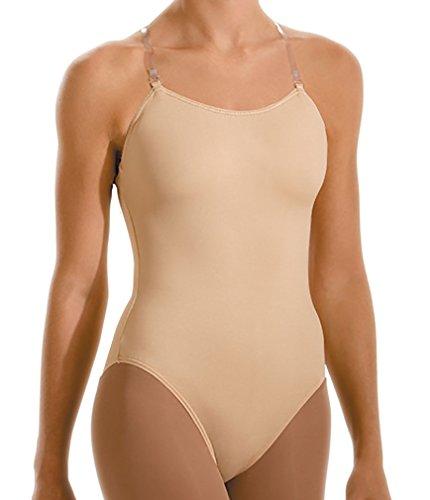 Motionwear Girl's Adjustable Strap Leotard S BEIGE