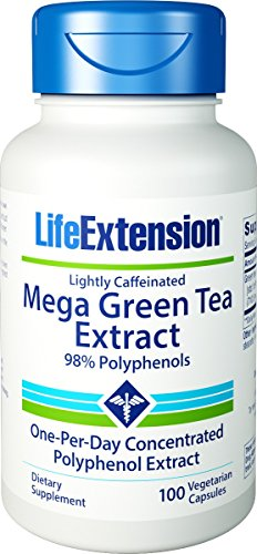 Price comparison product image Life Extension - Mega Green Tea Extract Lightly Caffeinated - 100 Vcaps Pack Of 2
