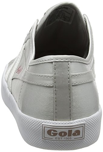 Silver Baskets Gola silver white Satin Femme Coaster Argent Jw white wRwf1nS