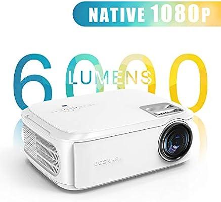 Proyector Native 1080p (1920 x 1080) Proyector de Cine en casa LED ...