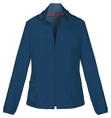 HeartSoul Women's Warm-Up Detachable Hooded Jacket_Navy_Medium,20310