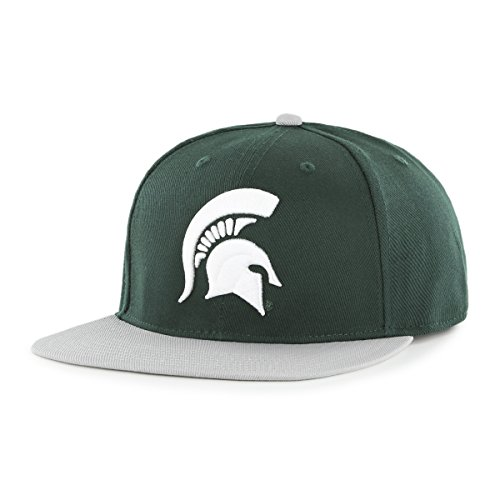 NCAA Michigan State Spartans Adult Gallant Ots Varsity Snapback Adjustable Hat, One Size, Dark Green