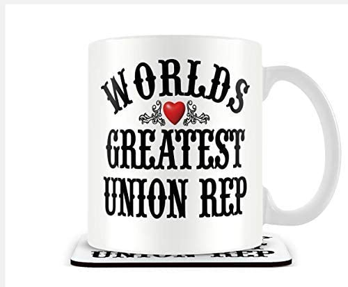 Mug /& Coaster Victorian Print Worlds Greatest Union rep