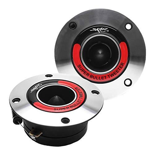 500w Tweeter - Skar Audio VX175-ST 1.75-Inch 400 Watt High Compression Aluminum Bullet Super Tweeters, Pair