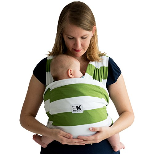 Baby K'tan Print Baby Wrap Carrier, Infant and Child Sling-Olive Stripe M (W dress 10-14 / M jacket 39-42). Newborn up to 35 lbs. Best for Babywearing.