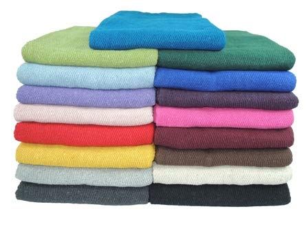 Kakaos Deluxe Solid Color Yoga Blankets with Matching Tassels
