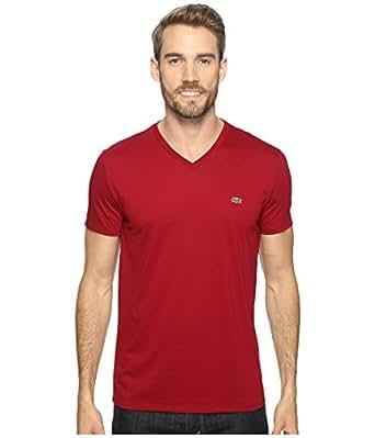 lacoste men 39 s short sleeve v neck pima jersey t shirt. Black Bedroom Furniture Sets. Home Design Ideas