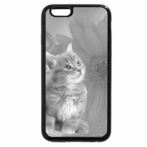 iPhone 6S Case, iPhone 6 Case (Black & White) - Orange Tabby