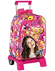 Backpack with Trolley Soy Luna School Bag 42CM Mochila Bolso Escolar Carro