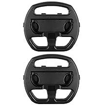 MonkeyJack 2 Pack Manipulate Grip Steering Wheel For Nintendo Switch Controller Black