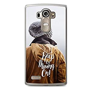 Inspirational LG G4 Transparent Edge Case - Keep on Keeping On