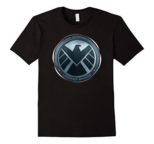 Sh Eagle (Mens Marvel Agents of S.H.I.E.L.D. Eagle Shimmer Badge T-Shirt 3XL Black)