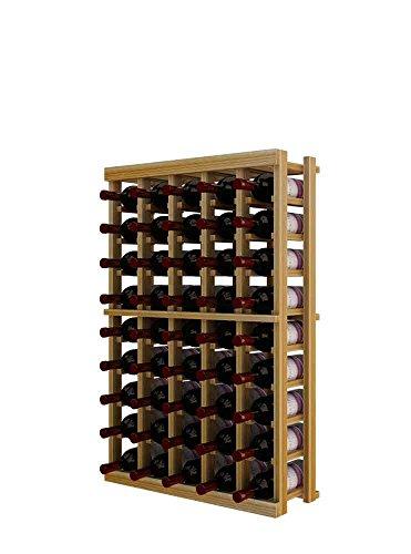 Winemaker Series Wine Rack - 5 Column - 3 Ft - Premium Redwood Unstained