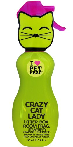 The Company of Animals Pet Head Crazy Cat Lady Litter Box Room Fragrance, 5.9-Ounce
