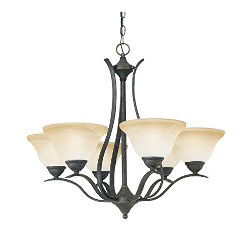 Thomas Lighting Sl8636-22 Prestige Six-Light Chandelier, Sable Bronze