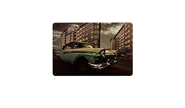 Amazon.com: Jewh Plaque Car Theme Vintage Metal Tin Signs Motorcycle Wall Poster Decals - Plate Painting Bar Club Pub Home Decor Wall (20x30cm) (14): Home & ...