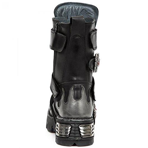 New Rock Boots M.195-s2 Hardrock Punk Gotico Unisex Stiefel Schwarz