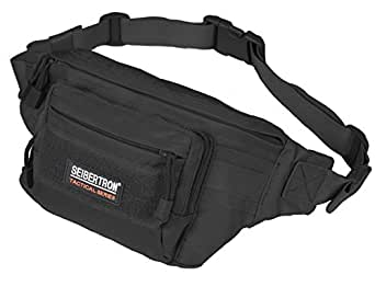 Seibertron Military Outdoor Casual Fanny Pack Bum Bag Riding Running Race Waist Bag Multi-Function Chest Bag Satchel Treadmill Carrying Iphone 4/5/5S/5C/6+ Black