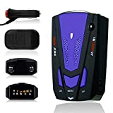 Radar Detector with LED Display for Cars, Voice Alert and Car Speed Alarm System City/Highway Mode 360 Degree Detection Radar Detectors FCC Certificate (LD)