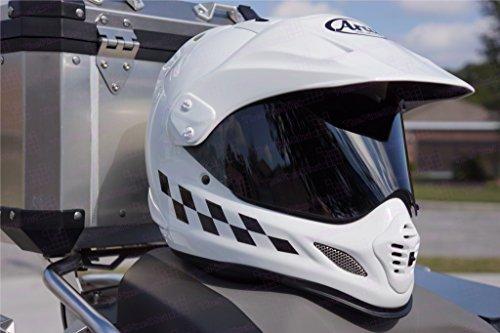 The Pixel Hut gs000247 Helmet Graphics Checker Flag Reflective for Arai XD4 - -