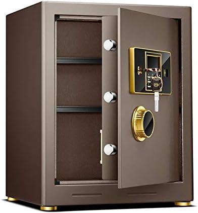 Lpinvin OF Caja Fuerte Caja Fuerte Digital sólido de aleación de Acero de construcción contraseña Plus Principales Configuración Caja Fuerte para el Dinero (Color : Coffee Gold, Size : 38X31X50CM): Amazon.es: Hogar