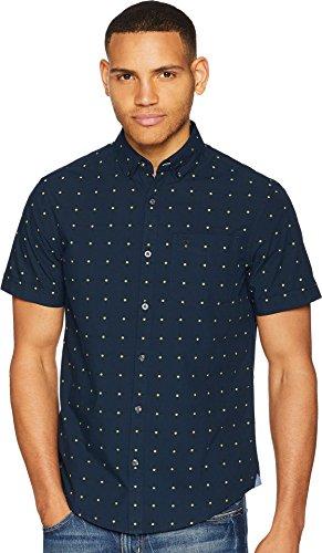 - Original Penguin Men's Short Sleeve Daisy Dobby Shirt Dark Sapphire Large