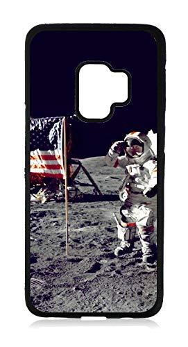 (Apollo Astronaut in Space Design Black Rubber Case for The Samsung Galaxy s9 - Samsung Galaxy s9 Accessories)