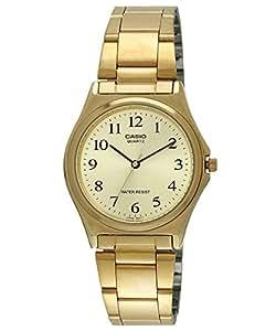 Casio MTP-1130N-9B - Reloj analógico de cuarzo para hombre, correa de acero inoxidable color dorado