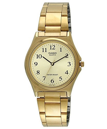 Casio Men's MTP1130N-9B Gold Stainless-Steel Quartz Watch with Gold Dial Casio Gold Bracelet