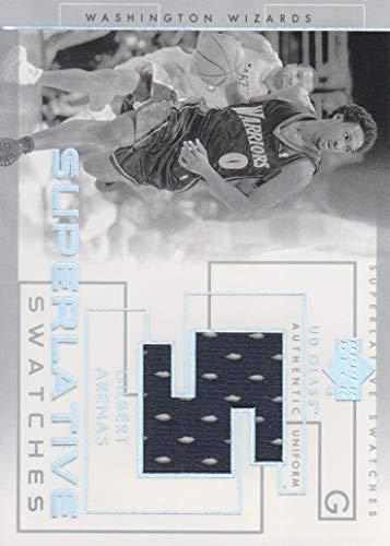 2003-04 Upper Deck UD Glass Basketball Superlative Swatches #GA Gilbert Arenas JERSEY Wizards