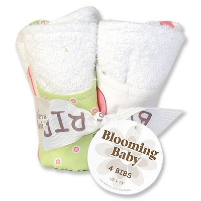 Tulip Blooming Bouquet 4 Pack Bib Set by Trend ()