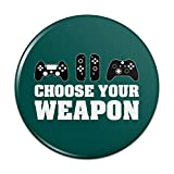 Choose Your Weapon Controllers Games Gamer Pinback