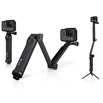 GoPro 3-Way- Soporte portátil para cámara GoPro (hasta 50.8cm), color negro