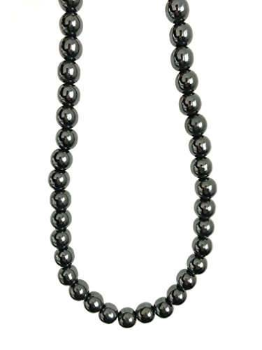 Acupress Hematite Magnetic Stone Nacklace Therapy Healing Jewelry in Multi Styles. (Type - Mens Style Types